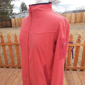 ARC'TERYX Fleece Pink Wm XL Full Zip Polar Tec EUC
